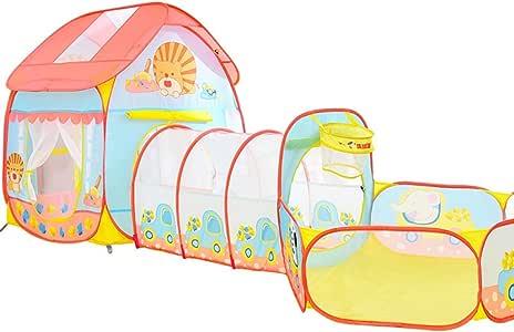Tienda De Dibujos Animados Tienda De Juegos para Niños Casa De Juguetes Plegable Casa De Juegos para Niños Túnel De Rastreo para Niños Niños (Color : Pink): Amazon.es: Hogar