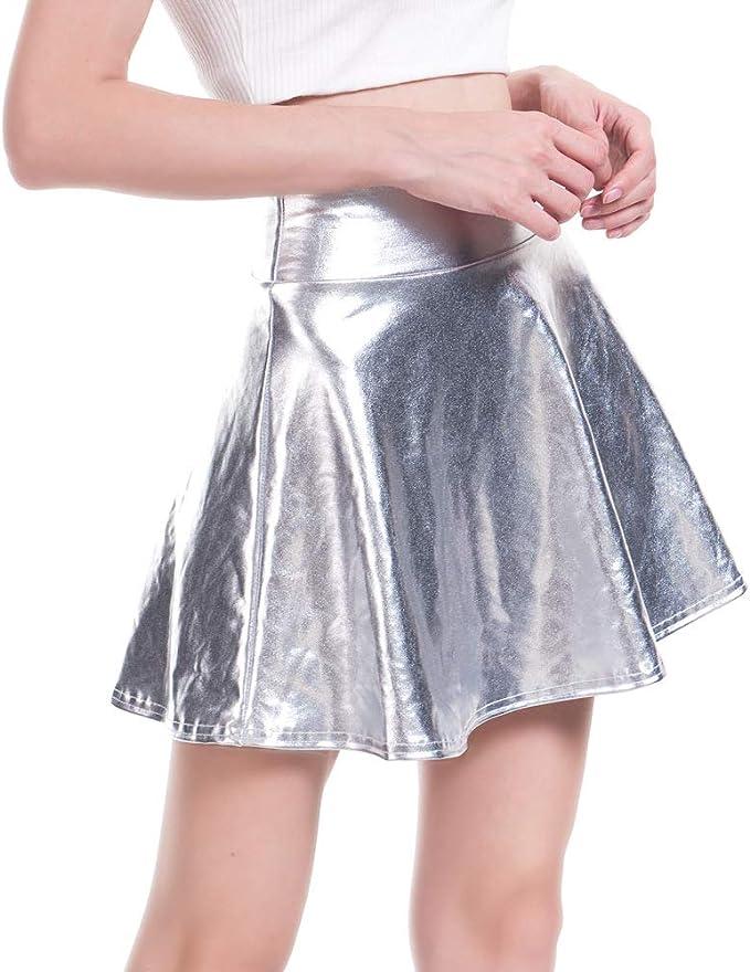 Mcaishen Vestido De Patinaje De Metal Brillante para Mujer, con ...