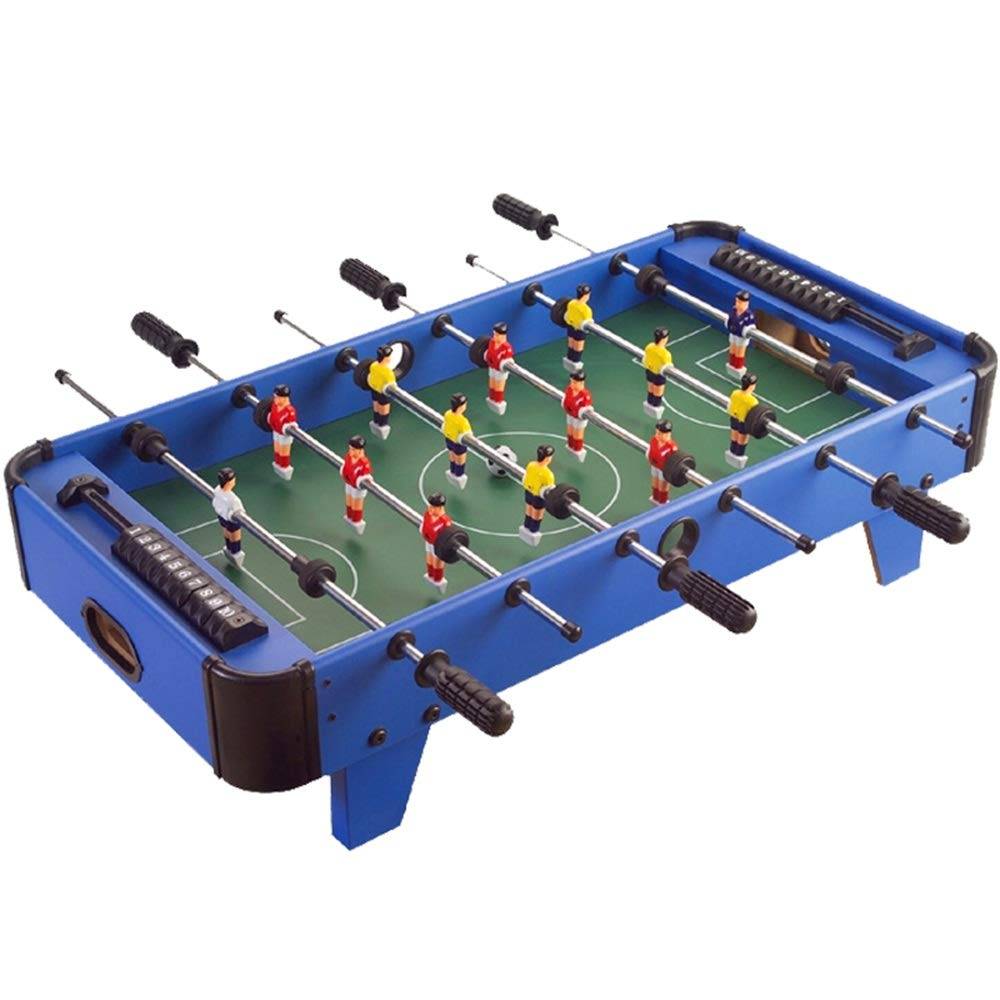 Foosball Tabletop Games Mini Size - Fun Portable Foosball Soccer Tabletops Soccer - Recreational Hand Soccer for Game Rooms Arcades Bars for Adults Family Night (Color : Blue, Size : 41.5x82x20cm) by Forgiven