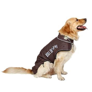 Hu Ropa para Perros Grande Capa para Mascotas Capa de Invierno Agua Prueba de Viento Manvas