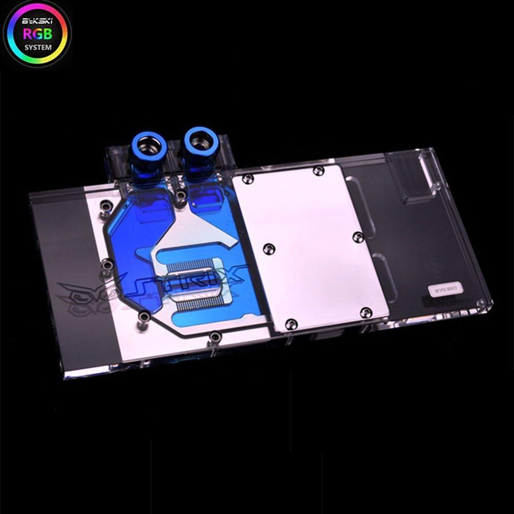 Bykski RGB VGA GPU Water Cooling Block For Asus RX480 RX580 STRIX