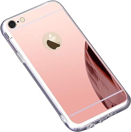 Coque iPhone 6S Plus,Coque iPhone 6 Plus,Miroir Housse Coque Silicone TPU pour iPhone 6 Plus 6S Plus,Surakey Bling Briller Diamond Coque Miroir Etui ...