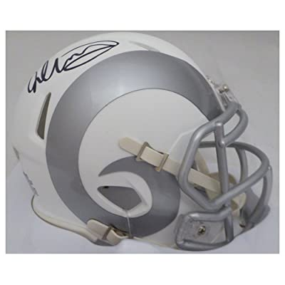 ca336b6a Todd Gurley Signed Autograph Los Angeles Rams White Ice Mini Helmet ...