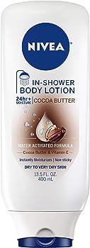 Nivea Cocoa Butter In-Shower Body Lotion Bottle 13.5 Oz