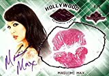 Masuimi Max 2015 Benchwarmers Hollywood Pink Kiss Card Autograph Sexy 4/5