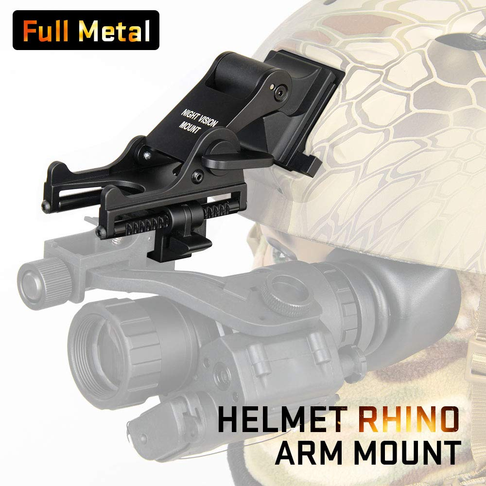 Canis Latran Night Vision Goggle (NVG) Rhino Mount for PVS-7, PVS-14, PASGT.M-88 & MICHI-2001 Helmet Only For airsoft wargames