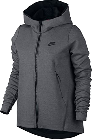 Nike W NSW TCH FLC Hoodie FZ Sudadera, Mujer, Gris (Carbon Heather/Black), XS: Amazon.es: Deportes y aire libre