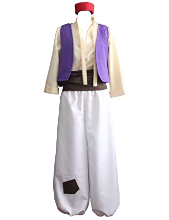Ainiel Menu0027s Arabian Prince Costume Aladdin Street Rat Suits (S)  sc 1 st  Amazon.com & Amazon.com: Ainiel Menu0027s Arabian Prince Costume Aladdin Street Rat ...