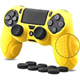 CHIN FAI PS4 Funda para Cubrir el Mando de PS4 con 4 Grips para Pulgares, Funda Antideslizante de Silicona, Carcasa Protectora para Mando de Sony PS4 / Slim/Pro