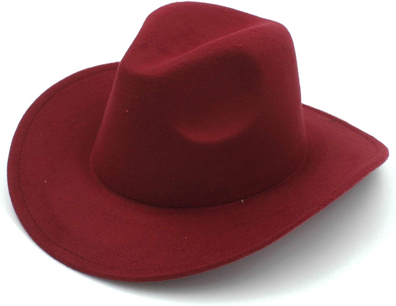 Winter Autumn Wool Fashion Fedora Jazz Bucket Hat Western Cowboy Cowgirl Sun Hat
