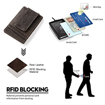 Amazon.com: Teemzone Genuine Leather Business Credit Id Card Case (K308): Office Products