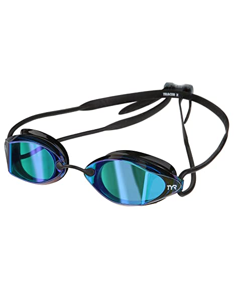 1ff1147f276 Amazon.com   TYR Tracer X Racing Mirrored Goggle (Blue Black ...