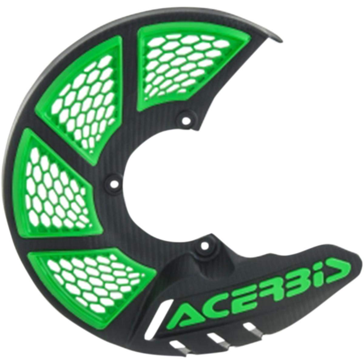 Acerbis X-Brake Vented Front Disc Cover Black//Green