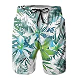 Adults Green Leaves Fishing Shorts Drawstring Quick Dry Board Shorts