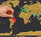 "Scratch Off Map Of The World -Travel Map Poster For Children - Educational, 16.5'' x 11.5"" Premium Quality Travel Tracker Prints, Learning Tool - By JQ's"