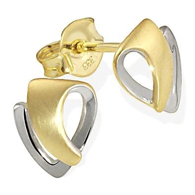 einzigartiger Stil auf Füßen Aufnahmen von am besten verkaufen Goldmaid Damen-Ohrstecker 333 Bicolor Ohrringe Schmuck
