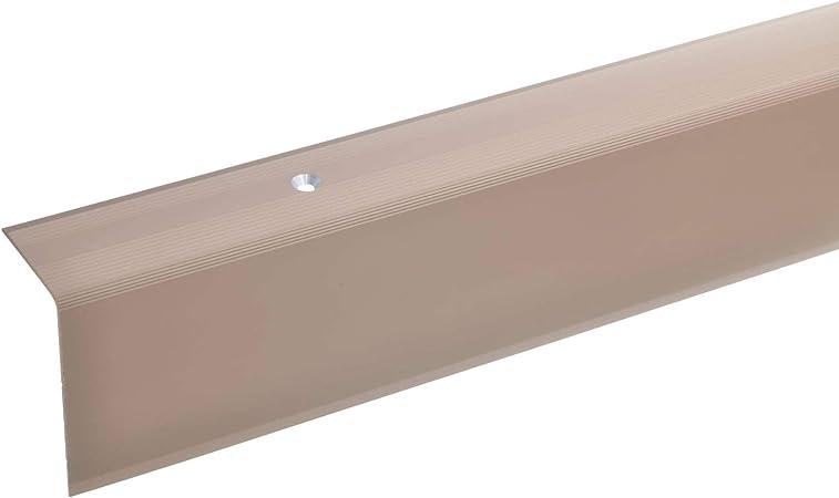 30 x 20 mm Montage autocollant Corni/ère pour escaliers Bronze Toolerando Nez de marche 90 cm Forme L