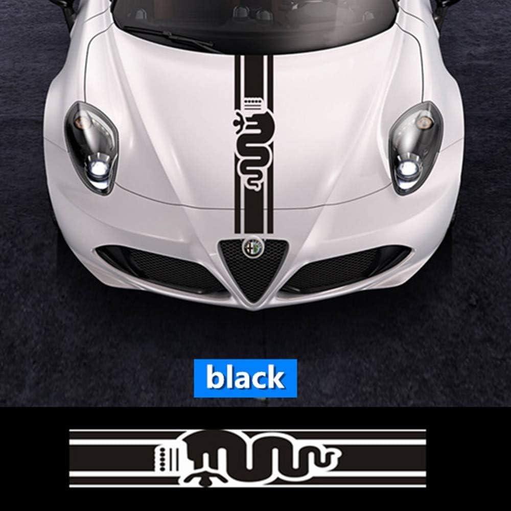Auto Motorhaube Racing Stripe Grafik Aufkleber Aufkleber Für Alfa Romeo Mito 147 156 156 159 166 Giulietta Stelvio Giulia Spider Gt Auto Dekoration Auto