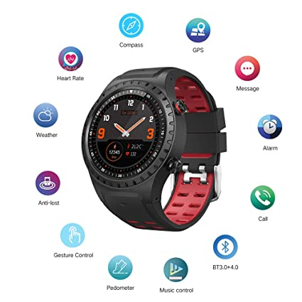 Amazon.com: Cool-M1 GPS Sport Watch Fitness Tracker Smart Watches for Men with Heart Rate Monitor Pedometer Watch IP67 Waterproof Level Watch (Red): Cell ...