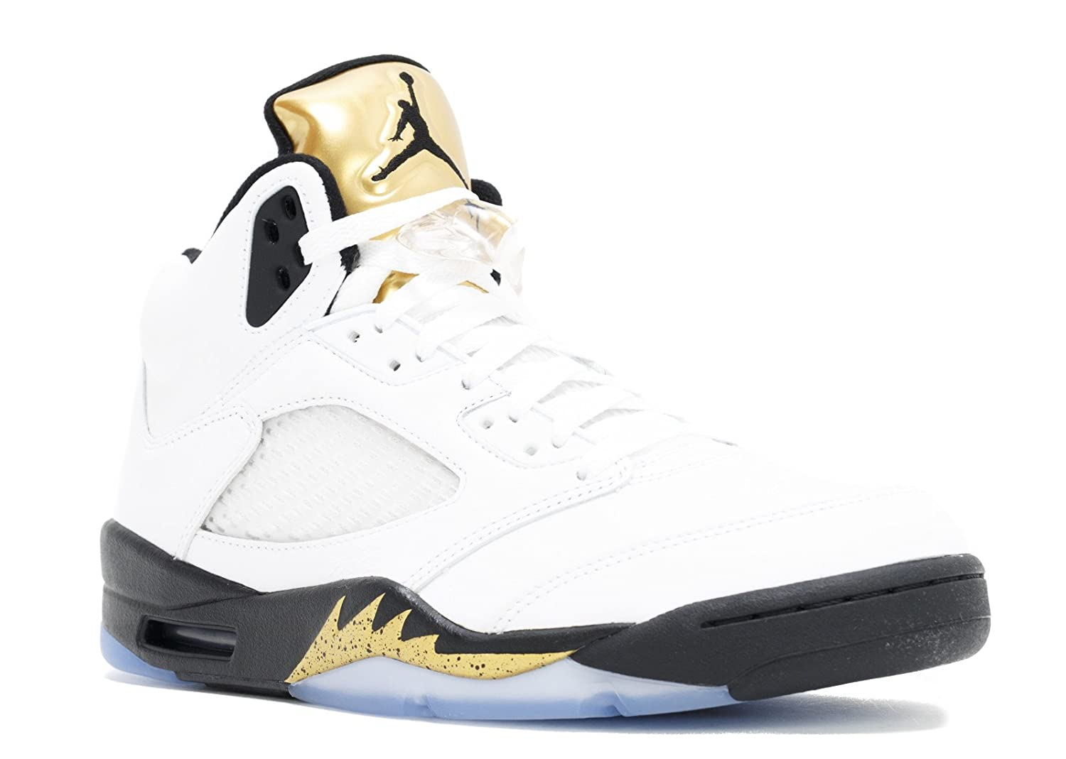 cheap for discount aa89d f3b9f Amazon.com   Air Jordan 5 Retro Olympic (Gold Metal) 136027-133 August 20,  2016 Release Men s Size (9)   Basketball