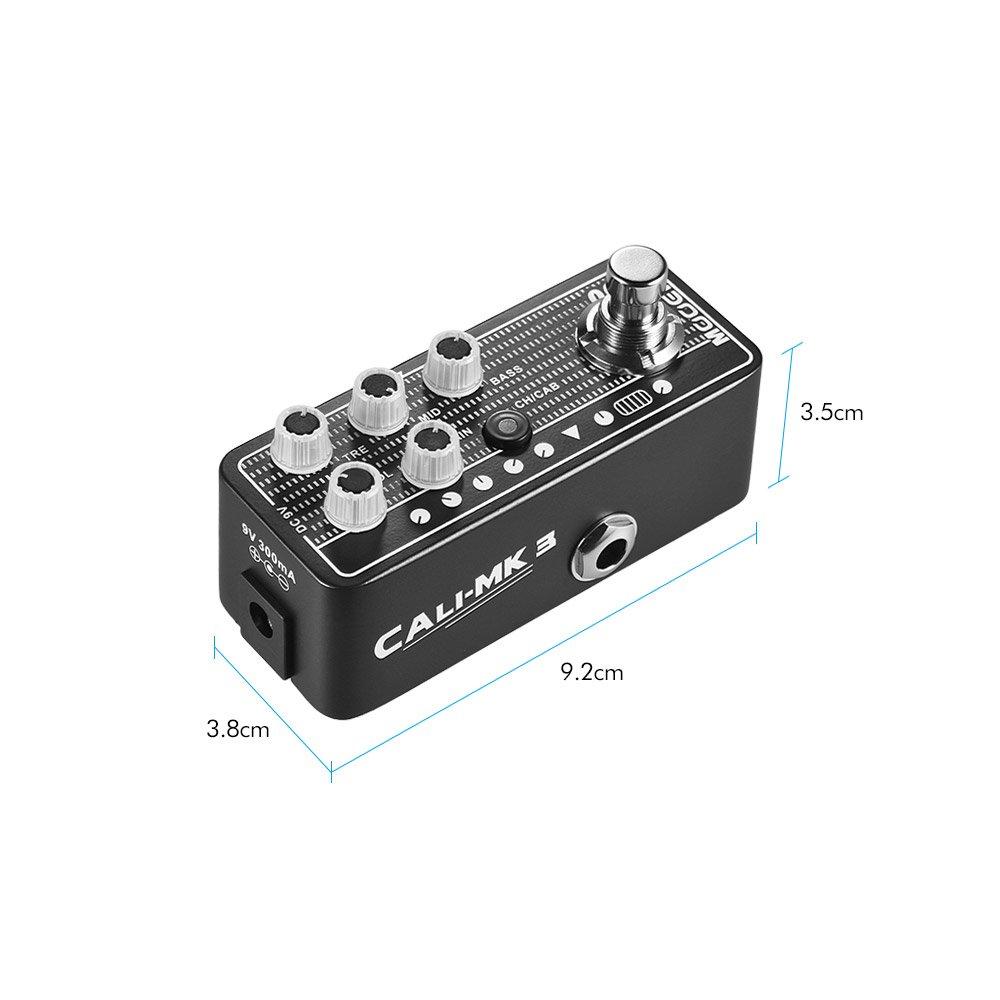 muslady Mooer Digital preamplificador Efecto guitarra pedal Micro preamplificador Series 008 Cali de MK 3 Californian Session Combo cierto Bypass: ...