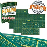 Self Healing Cutting Mat Double Sided with Grids & Angles. A Must Have Premium Quality Self Healing Mats for Sewing Quilting Embroidery Craft Scrapbooking. Protects Work Surface and Crafts Tools.