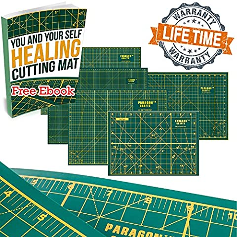 """Self Healing Rotary Cutting Mat With Grids & Angle Indications For Optimal Precision – Double Sided, Thick & Durable Design, Ideal For Quilting, Scrapbooking, Sewing & More - 35"""" x 23"""" – - Magnetic Circle Cutter"""