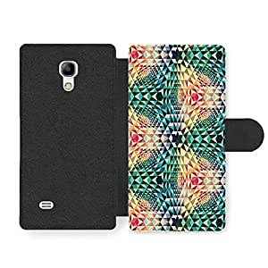 Cool and Colourful Psychedelic Shape Hipster Pattern Faux Leather case for Samsung Galaxy S4 mini