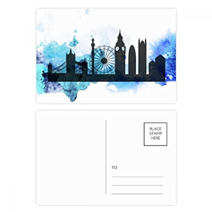DIYthinker London Victoria Silueta Inglaterra tarjetas ...