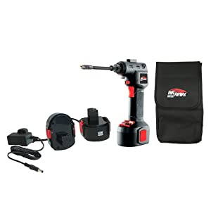 Air Hawk PRO Ð The Compact, Portable, Digital, Cordless, Rechargeable Air Compressor, Tyre Inflator, LED Light, Automatic Pump + BONUS Carry Case (As seen on High Street TV)