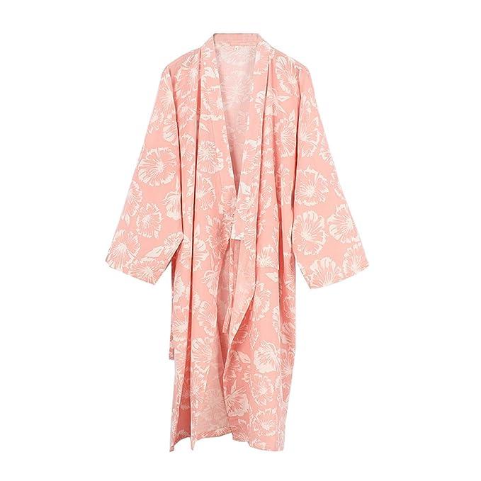 Batas Estilo japonés Kimono Pijamas para Mujer [Talla L, A ...