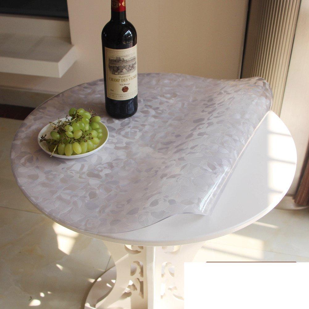 B diametro80cm(31inch) Waterproof Table PVC Table Cloth Antihot Antioil Table MatF diameter140cm(55inch)