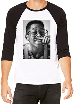5508d42b7038 Steve Urkel Blows Coke Cocaine Geek Hype Baseball T-shirt X-Large:  Amazon.co.uk: Clothing