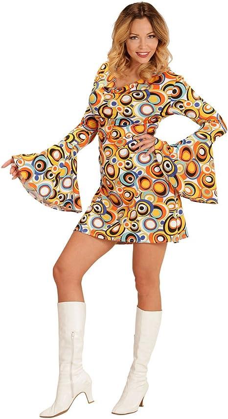NET TOYS Vestido Dama Años 70 - XL (ES 48/50) | Disfraz Mujer ...