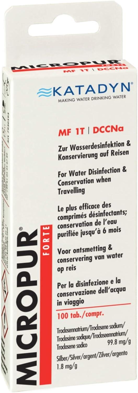 KATADYN Micropur Forte MF 1t 100 compresse Acqua Disinfezione trattamento delle acque