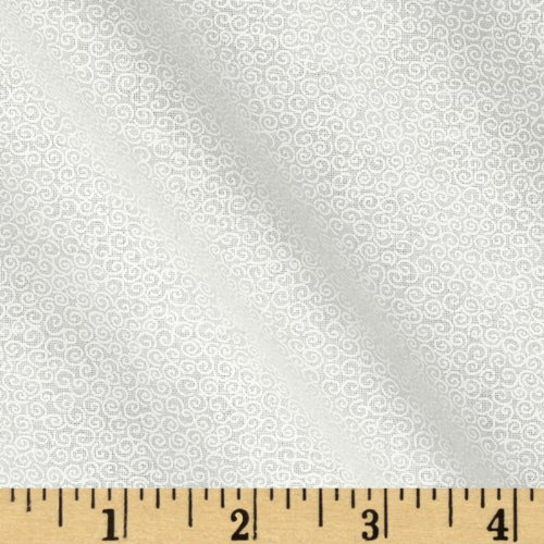 Tone On Tone Scrolls White/White Fabric By The (Tone Scroll)