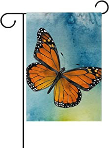Cicily Garden Flag Home Decoration Yard Flag Monarch Butterfly Polyester Great Outdoor Decorations