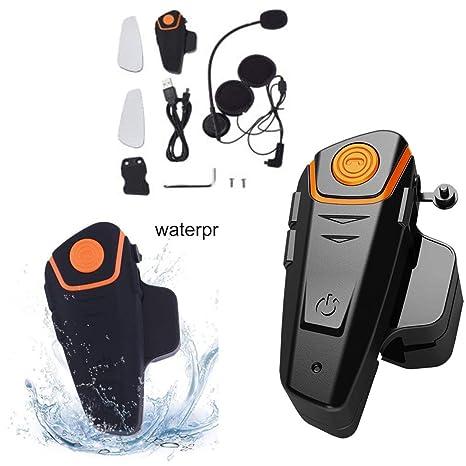 Losenlli Bluetooth Casco de motocicleta Auricular Intercomunicador Auricular de comunicación Interfaz inalámbrico universal BT-S2