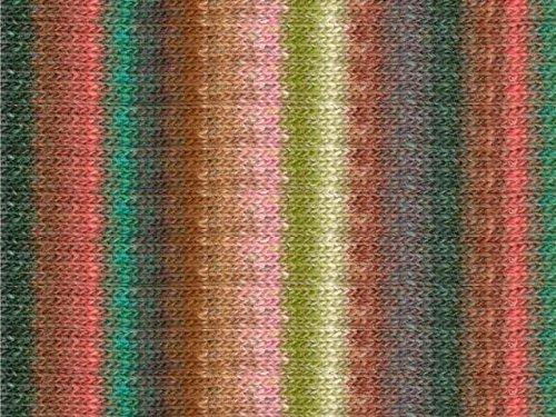 - Noro Silk Garden Lite, 2083 - Peach-Jade-Nut-Forest-Rose-Pea