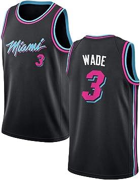 SEYE1° Miami Heat # 3, Wade 2019 NBA Jersey, Camisetas De ...
