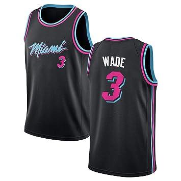 4688388d0368d SEYE1° Maillot Miami Heat # 3, Wade 2019 NBA, Maillot de Basketball ...