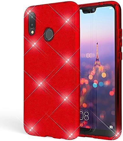 Coovertify Funda Purpurina Brillante Red Rose Xiaomi Redmi Note 5 ...