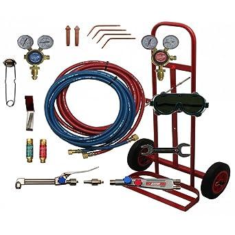 SWP 2059 - Juego de herramientas de soldadura a gas portátil (bombonas y carro incluidos
