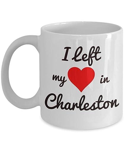 Charleston Mug - Charleston Souvenirs - I Left My Heart in Charleston - Charleston Gifts For