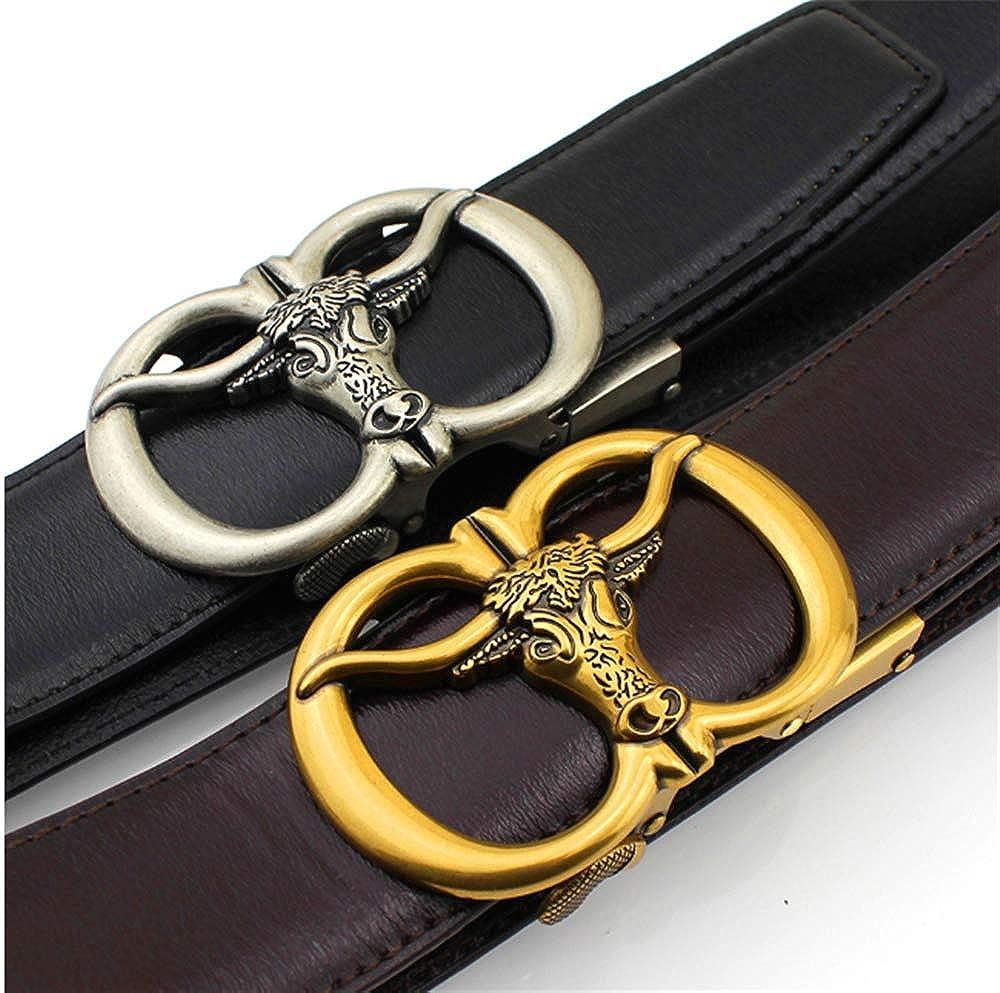 Belts MenS Leather Belt Automatic Buckle Plain Retro Business Leisure Belt