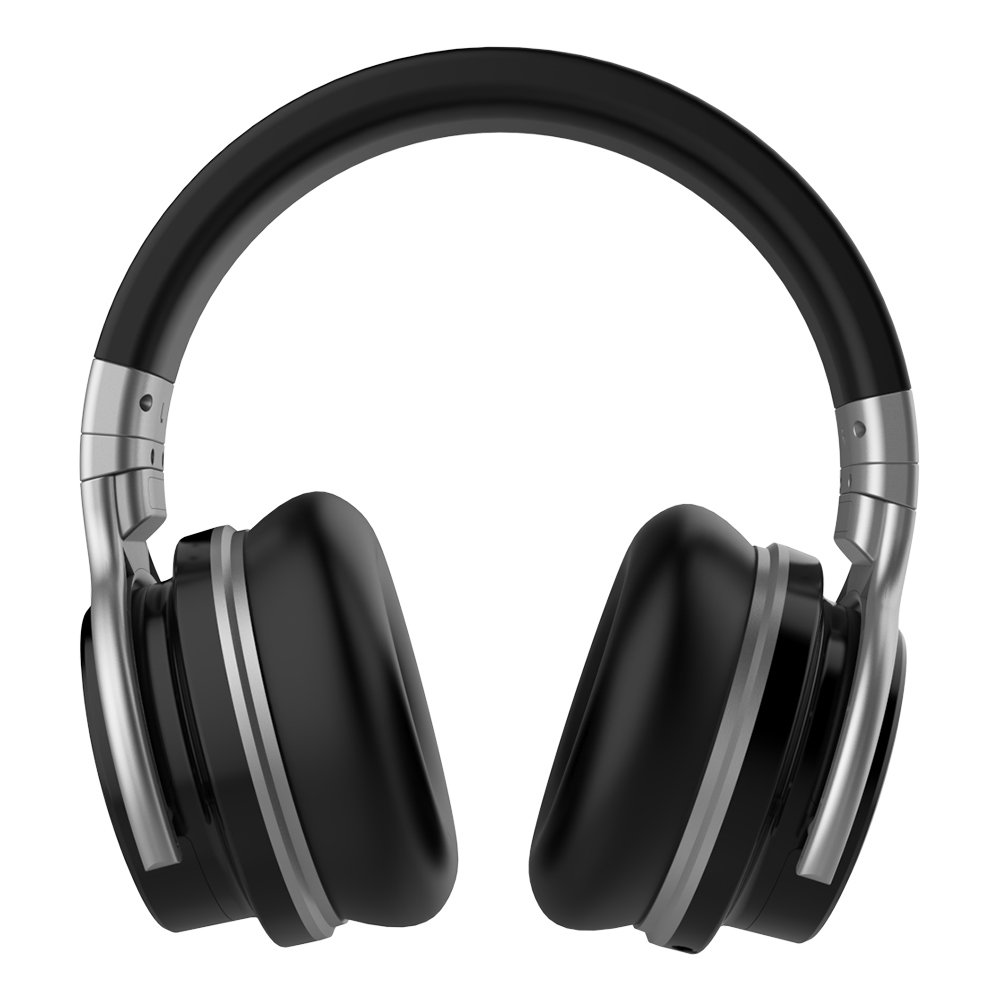 Meidong E7C Bluetooth Headphones Over Ear Wireless Headphones with Microphones Hi-Fi Deep Bass Wireless Headset 30H Playtime Wired and Wireless Bluetooth Headphones for Cell Phones/PC/TV (Black)