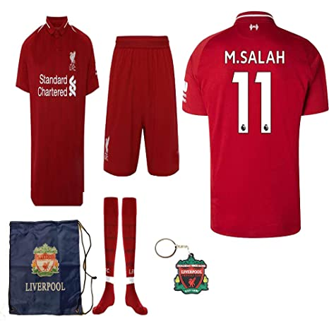 d58473415 Liverpool English Premier League 2018 19 Replica Mohamed Salah Kid Jersey  Kit : Shirt, Short