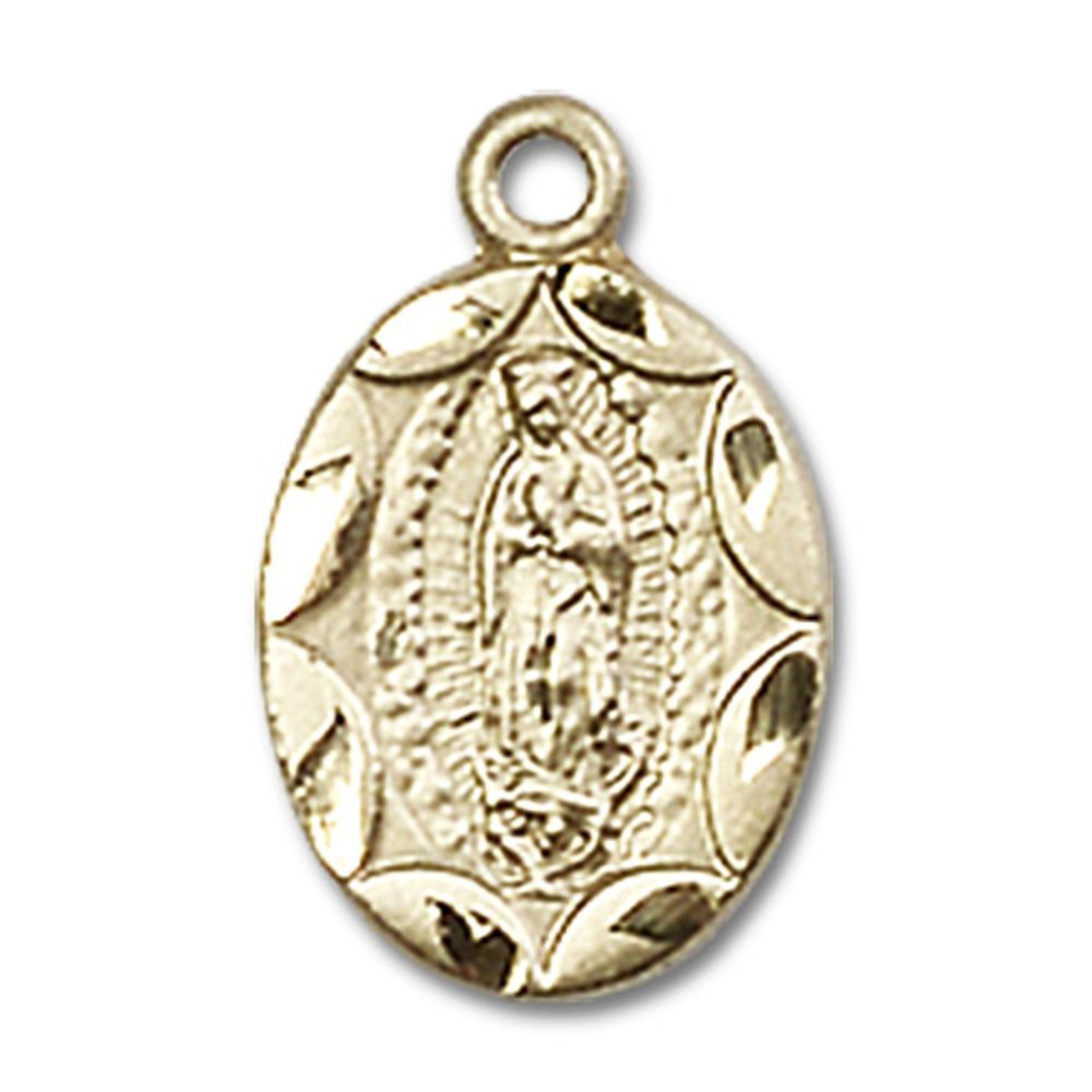 【予約販売品】 14 ktイエローゴールドOur Lady x of 1 Guadalupeメダル1/ 2 x 1 4インチ/ 4インチ B00P5AP09G, ステンドグラス Shop 煌LaLa:a0637877 --- narvafouette.eu