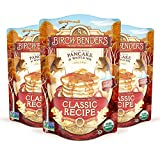 Birch Benders Organic Pancake and Waffle Mix, Whole Grain, Non-GMO, 16 Ounce, Pack of 3