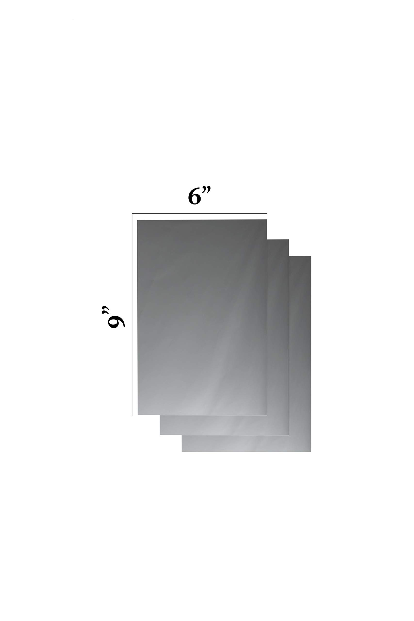 Flexible Mirror Sheets 6'' X 9'' Soft Non Glass Cuttable Craft Plastic 3 sheets